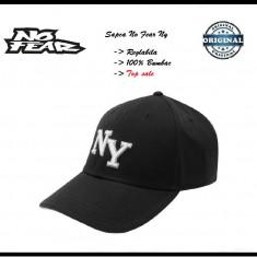 Sapca No Fear NY Neagra - Reglabila - 100% Bumbac - Detalii in anunt, Negru