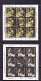 2010 LP 1885 e EMISIUNE COMUNA ROMANIA-VATICAN  CRACIUN  MINICOLI DE 8TB+1VG MNH, Nestampilat