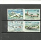 KIRIBATI 1980 - AVIOANE DE TRANSPORT PASAGERI , serie nestampilata, F118, Nestampilat