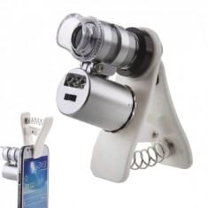 Lupa 60X cu Clips pentru Telefon Mobil, KC-PJ1000