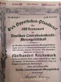 1000 Reichsmark titlu de stat banca centrala Germania 1940