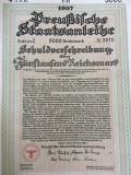 5000 marci Titlu de Stat obligatiune la purtator Germania Nazista 1937