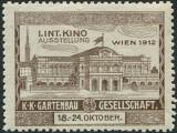 Viena (Wien) 1912 - vignieta expozitia internationala de horticultura, Nestampilat
