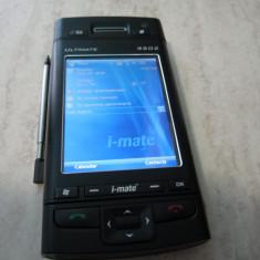 PDA DE COLECTIE SI FOARTE RAR I-MATE ULTIMATE 9502 LA CUTIE CU ACCESORII, Touchscreen si taste, Culori display: 256, 480 x 640 pixeli (VGA), Negru, 3-5 megapixeli