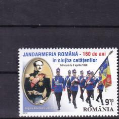 2010 LP 1860 JANDARMERIA ROMANA-160 ANI SERIE MNH - Timbru Romania dupa 1900, Nestampilat