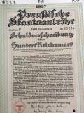 100 Reichsmark Titlu de Stat obligatiune purtator Germania 1937