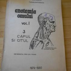 V. RANGA--ANATOMIA OMULUI - VOL. 1 - 1979 - 1980 - LITOGRAFIAT