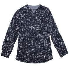 Bluza TOMMY HILFIGER Baby Doll - Bluze Dama, Femei - 100% AUTENTIC - Bluza dama Tommy Hilfiger, Marime: S, M, Culoare: Bleumarin, Maneca lunga, Bumbac