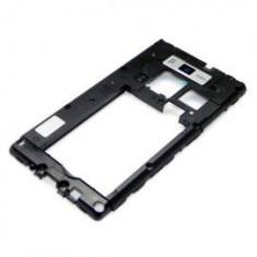 Rama carcasa mijloc LG P710 Optimus L7 II negru Swap