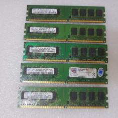 Memorie RAM 1GB Samsung PC2-5300U DDR2 667 M378T2953EZ3-CE6 - poze reale, 667 mhz