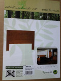 Pat matrimonial din lemn de pin + birou + masa + oglinda + biblioteca
