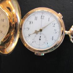 CEAS BUZUNAR CARILL ON AUR 18K REPETITIE - Ceas de buzunar vechi