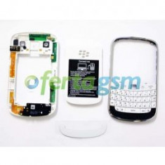Carcasa Blackberry 9900 alba originala