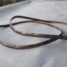 BRATARI argint TRIBALE set 2 bucati VECHI finute De EFECT vintage