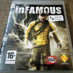 Joc Infamous, PS3, original, alte sute de jocuri! - Jocuri PS3 Sony, Shooting, 18+, Single player