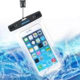 Husa waterproof cu snur, Universala, Alb