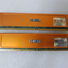 Memorie GeIL Ultra 2GB (2X1Gb) DDR2 800MHz GX22GB6400UDC - poze reale - Memorie RAM Geil, Dual channel