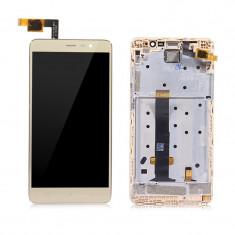 Ansamblu display touchscreen rama Xiaomi Redmi Note 3 Pro gold swap