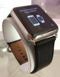 Apple Watch 1st Gen, 42mm, Stainless Steel, Classic Buckle, Black Leather 10/10, Otel inoxidabil, Argintiu