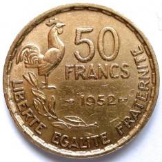 MOKAZIE , FRANTA , 50 FRANCS 1952 , URIASA 27mm.