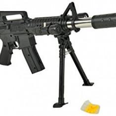 PUSCA AIRSOFT TEAVA METALICA M16+TINTA LASER INCLUSA SI BILE 6MM BONUS.75 CM.