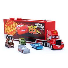 Camion Mack cu 4 masinute metalice incluse - Disney Cars