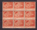 """1946 - Mihai, bloc val. 80L cu eroare """"LE"""" in loc de LEI"""