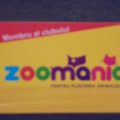 CARD DE FIDELITATE ZOOMANIA- PENTRU PLACEREA ANIMALELOR- CU REDUCERI
