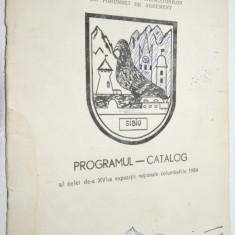 Programul Catalog expozitia nationala columbofila 1984 - Pliant Meniu Reclama tiparita