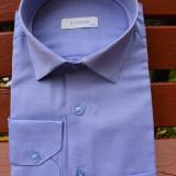 Camasa clasica de barbat cu maneca lunga, de culoare albastra - Camasa barbati