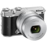 Aparat foto Mirrorless Nikon 1 J5, 20.8 MP, Silver + Obiectiv VR 10-30mm PD-Zoom - Aparate foto Mirrorless