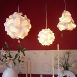 Lampa creativa puzzle, 30 elemente, 15 forme asamblare, alba