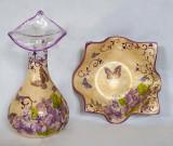 Set vaza si platou Colectia Vintage Violets