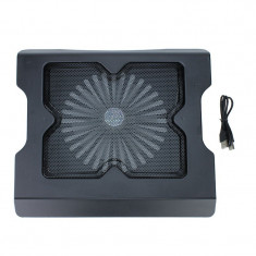 Stand cooler USB cu ventilator de 16 cm, iluminat, Esperanza Twister