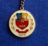 Breloc vechi de colectie Pelendava - Craiova - 1975 - tema insigne