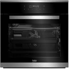 Cuptor incorporabil Beko BIMM25400XPS, 12 functii, afisaj LED - touch control, curatare pirolitica, 3D cooking, negru cu inox