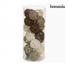 Globuri de Crăciun Cafea Alb Șampanie (21 pcs) by Homania - Globuri brad