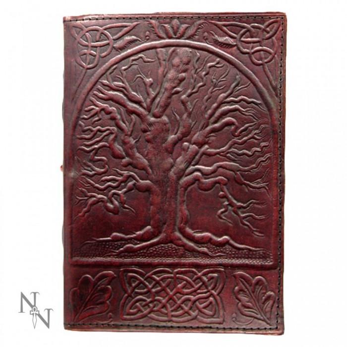 Agenda / Jurnal cu coper?i din piele si incuietoare Copacul vie?ii 18x25 cm foto mare