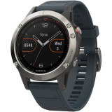Ceas smartwatch Garmin Fenix 5, Heart Rate, GPS, Granite Blue