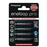 Acumulatori Panasonic Eneloop Pro tip R6 AA 2500mAh set 4 buc. blister, Tip AA (R6)
