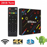 Mini Pc Tvbox H96 Max H2  4 Quad-Core 4GB 32GB Wifi 5 GHz BT USB 3.0 Android 7.1