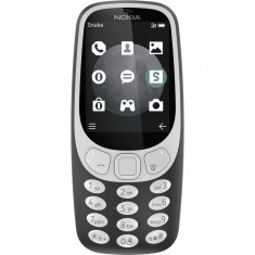 Telefon mobil Nokia 3310 (2017), Dual SIM, 3G, Charcoal