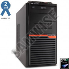 Calculator GATEWAY DT55, AMD Phenom II X4 B95 3GHz, 4GB DDR3, 500GB, ATI HD4250, VGA, DVI, DVD-RW - Sisteme desktop fara monitor