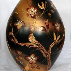 Vaza Colectia Floral Cuivre - Arta din Sticla