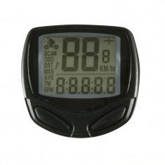 Computer wireless, ecran LCD, 14 functii, 12V, pentru bicicleta, Home - Accesoriu Bicicleta, Ciclocomputer bicicleta