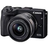 Aparat foto Mirrorless EOSM3 negru + obiectiv EF-M 15-45mm IS, Canon
