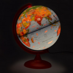 Glob pamantesc Zoo Globe iluminat, 25 cm