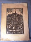 Nicolae Brana – Gravura - Romania 1942 ( 2 ) RARITATE  EXTREMA !, Istorice, Grisaille, Realism