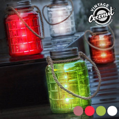 Borcan din Sticlă Decorativ cu LED Grange Vintage CoconutTransparent