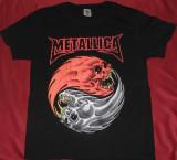 Tricou Metallica - Ying/Young ,tricouri rock, XL, Maneca scurta, Negru